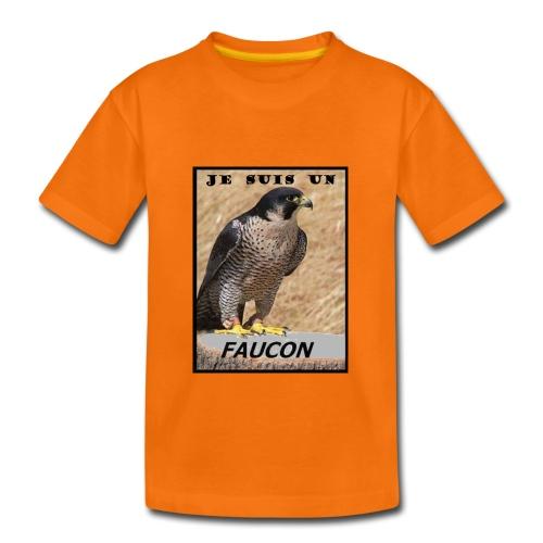 TSHIRT ORANGE ADO JE SUIS UN FAUCON - T-shirt Premium Ado