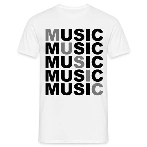 Nothing but music - Mannen T-shirt