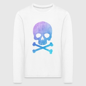 Trendy & Cool Water Color Hipster Skull / Art Manches longues - T-shirt manches longues Premium Enfant