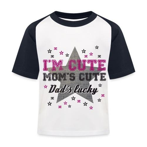 Imcute-Tshirt - Baseball T-shirt til børn
