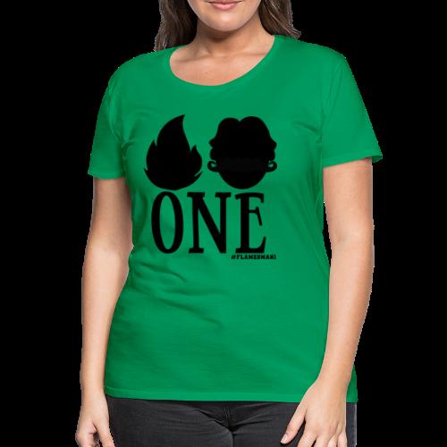 FLAMES-MAN-ONE [PIGER] - Dame premium T-shirt