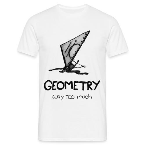 white tshirt geo - Männer T-Shirt