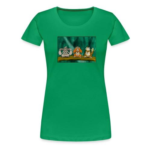 Drei Affen (Damen-Shirt) - Frauen Premium T-Shirt