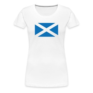The Flag of Scotland - The Saltire - Women's Premium T-Shirt