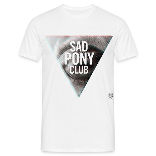 SAD PONY CLUB - WHITE - Men's T-Shirt
