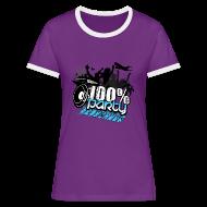 T-shirts ~ Kontrast-T-shirt dam ~ 100% PARTY (Nyhet)