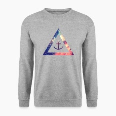 Galaxy / universe / hipster triangle with anchor Felpe