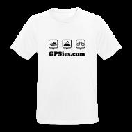 T-Shirts ~ Männer T-Shirt atmungsaktiv ~ GPSies Shirt Männer weiß