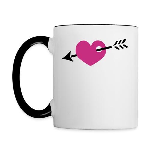 Herz Tasse  - Contrasting Mug