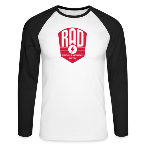 RAD Awesomeness Since 08 - Men's Long Sleeve Baseball T-Shirt