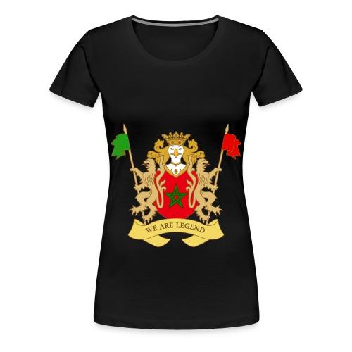 Vrouwen t-shirt met blazon van Marokko - Vrouwen Premium T-shirt