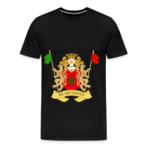 Mannen t-shirt met blazon van Marokko - Mannen Premium T-shirt