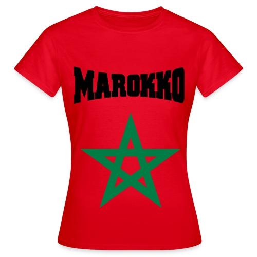 Vrouwen t-shirt met Marokkaans logo - Vrouwen T-shirt