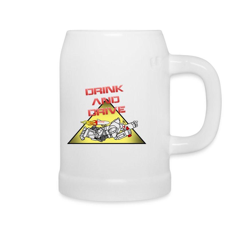 Drink & Drive Krug #4 mit GCGB Logo - Bierkrug