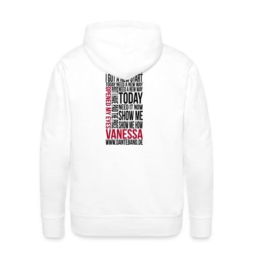 DANTE Men Hoodie Vanessa Lyric white - red / black - Männer Premium Hoodie