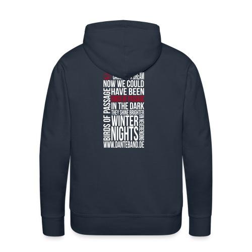 DANTE Men Hoodie Birds of Passage Lyric navy- red / white - Männer Premium Hoodie