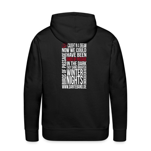 DANTE Men Hoodie Birds of Passage Lyric black- red / white - Männer Premium Hoodie
