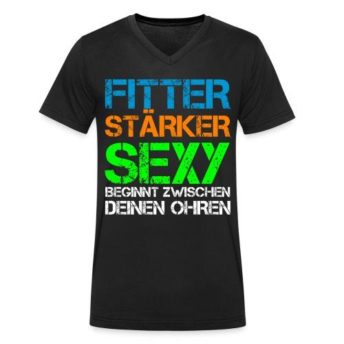 FSSBZDO V-Neck - Men - Männer Bio-T-Shirt mit V-Ausschnitt von Stanley & Stella