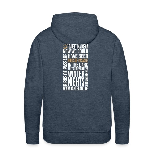 DANTE Men Hoodie Birds of Passage Lyric brown - sand / white - Männer Premium Hoodie