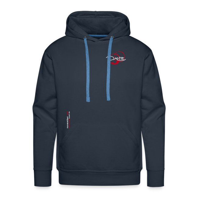 DANTE BUDGET - Men Hoodie navy- red / white