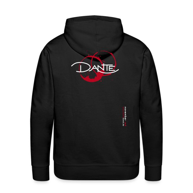 DANTE Men Hoodie NOVEMBER RED black