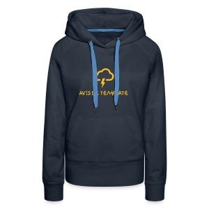 Avis de Template (Femme) - Sweat-shirt à capuche Premium pour femmes