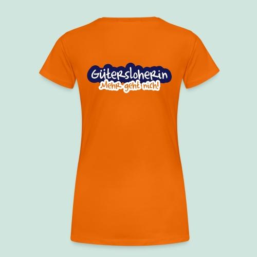 Gütersloherin - Aufdruck HINTEN - Frauen Premium T-Shirt