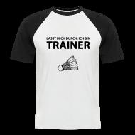 T-Shirts ~ Männer Baseball-T-Shirt ~ Trainer T-Shirt