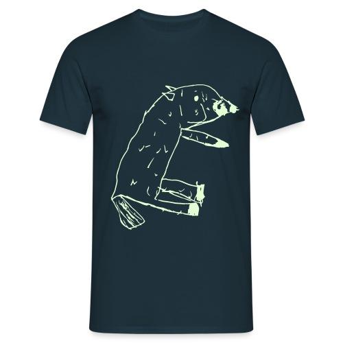Glow-Dog Man - Männer T-Shirt