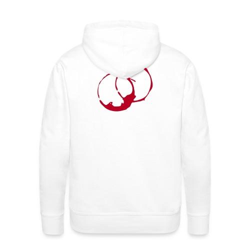 DANTE  Red Rings- Men Hoodie white- red / black - Männer Premium Hoodie