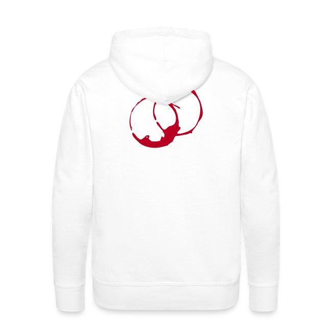 DANTE  Red Rings- Men Hoodie white- red / black