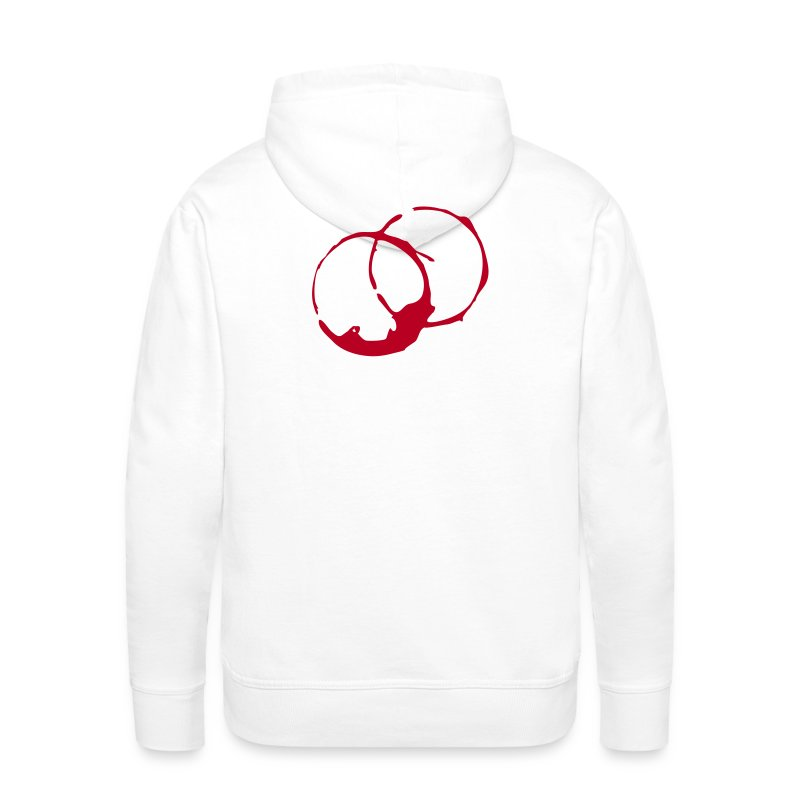 DANTE  Red Rings- Men Hoodie white- red / black - Männer Premium Hoodie