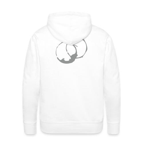 DANTE  grey  Rings- Men Hoodie white- grey / black - Männer Premium Hoodie