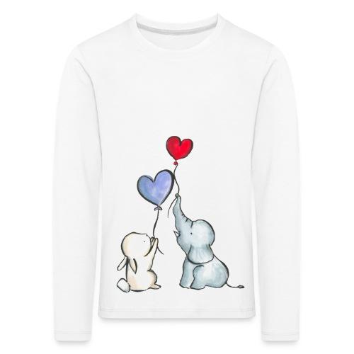 Kinder Premium Langarmshirt - baby,ballons,cute,elefant,freunde,friends,hase,herz,kids,süß