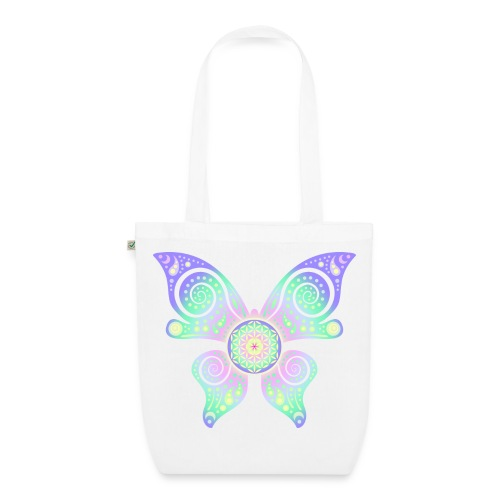 Flower Of Life - Butterfly - Bio-Stoffbeutel