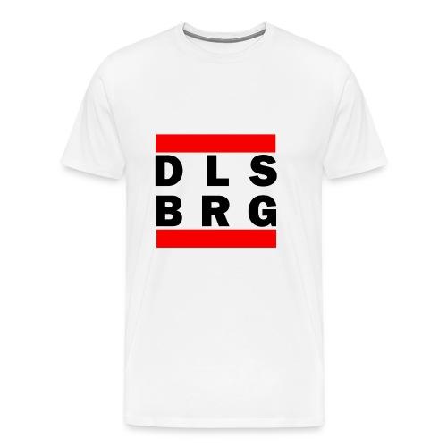DLSBRG Männer T-Shirt weiß - Männer Premium T-Shirt