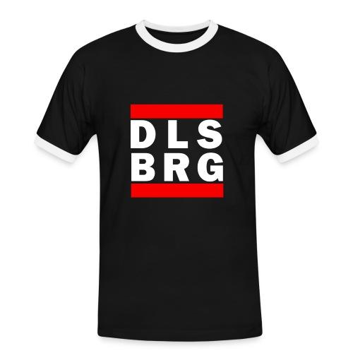 DLSBRG Männer T-Shirt schwarz - Männer Kontrast-T-Shirt