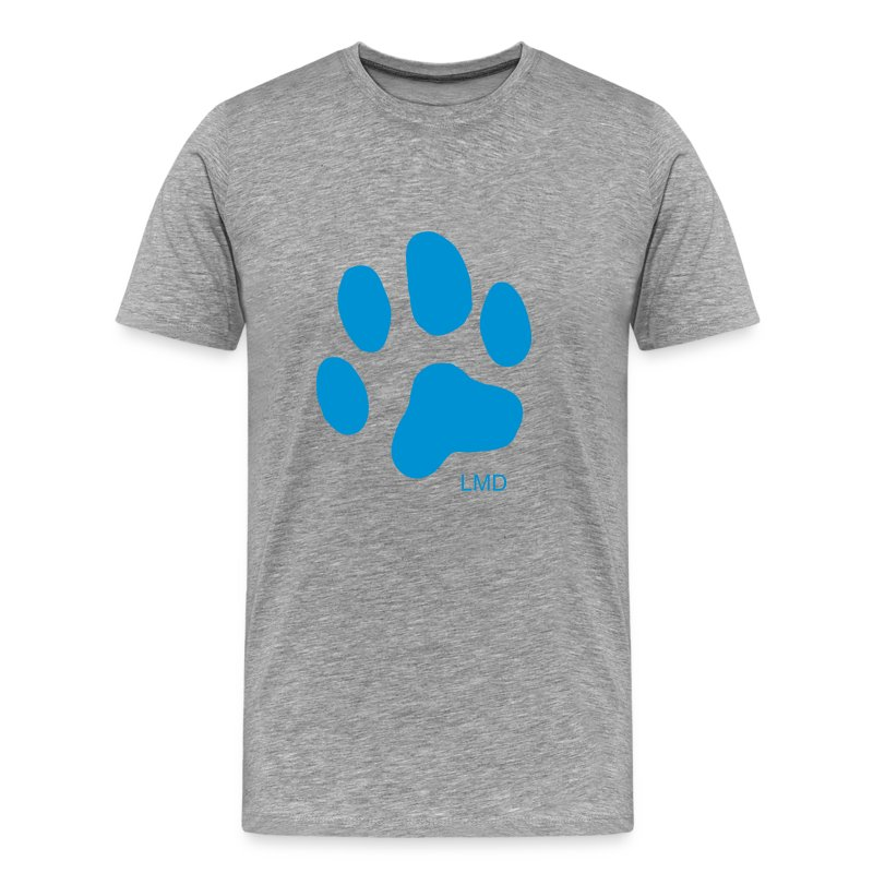 Men's Paw T (Blue Print) - Men's Premium T-Shirt
