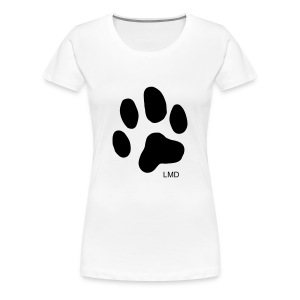 Ladies Paw T (Black Print) - Women's Premium T-Shirt