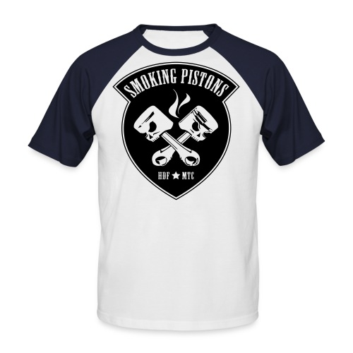 SP T-shirt white/black - Mannen baseballshirt korte mouw