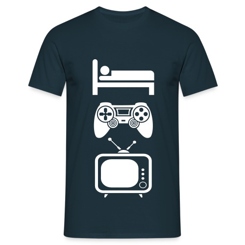 Uitslapen, Gamen en TV Kijken - Mannen T-shirt