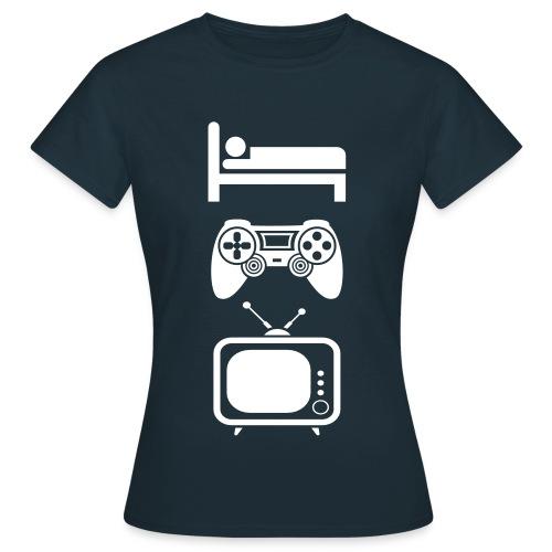 Uitslapen, Gamen en TV Kijken - Vrouwen T-shirt