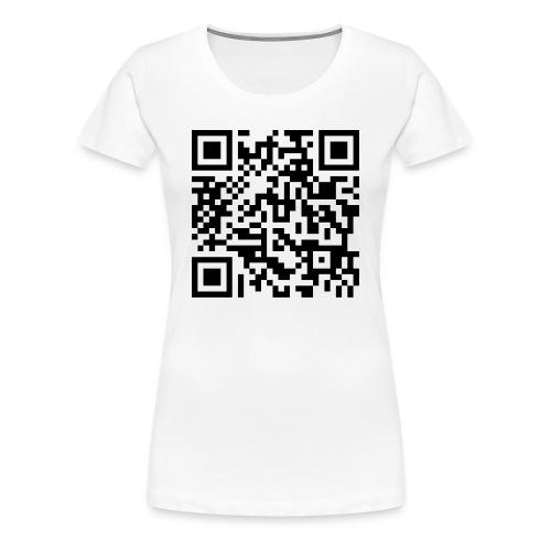 Rick Roll QR-Code - Women's Premium T-Shirt