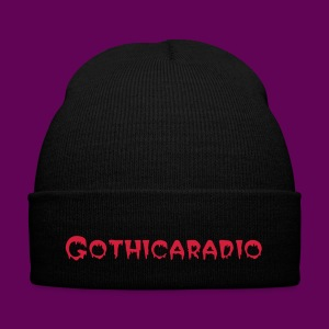 Beanie black with logo Gothicaradio - Winter Hat