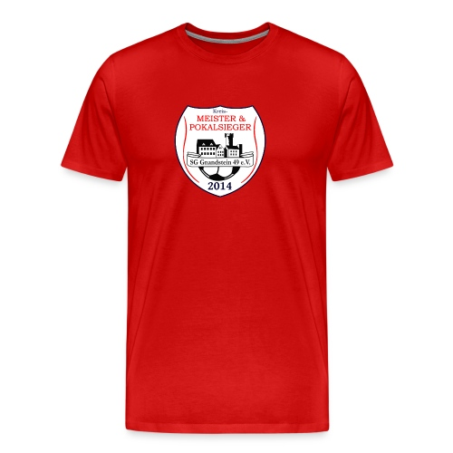 Double-Tshirt red - Männer Premium T-Shirt