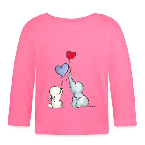 Baby Langarmshirt - baby,ballons,cute,elefant,freunde,friends,hase,herz,kids,süß