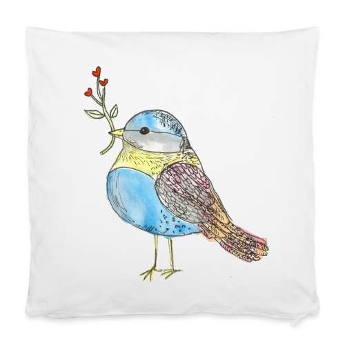 Kissenbezug 40 x 40 cm - baby,bird,birdy,blume,bunt,cute,herz,kids,klein,little,vogel,vögel