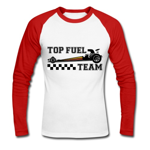 top dragster team - Men's Long Sleeve Baseball T-Shirt