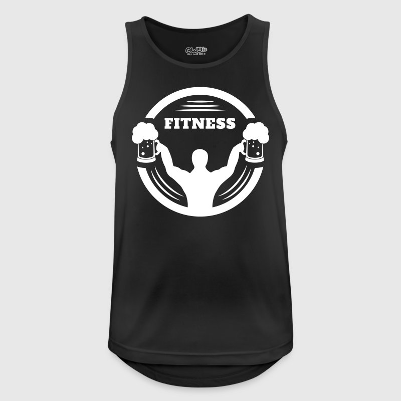 Body builder fitness with beer logo Sports wear - Men's Breathable Tank Top