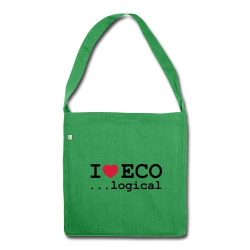 I love Eco bag - Shoulder Bag made from recycled material
